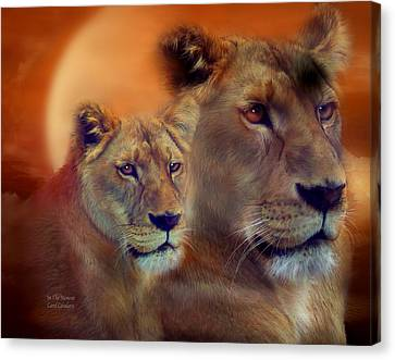 Lioness Canvas Print - In The Moment by Carol Cavalaris