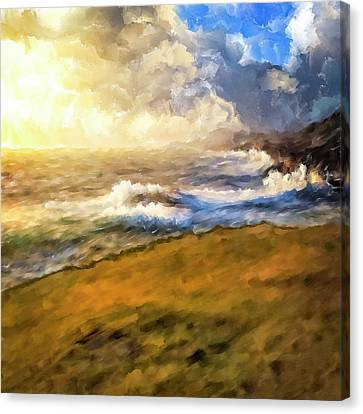 Canvas Print featuring the mixed media In The Moment by Mark Tisdale