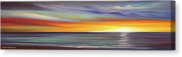In The Moment Panoramic Sunset Canvas Print by Gina De Gorna