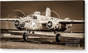 In The Mood - B-25 II Canvas Print