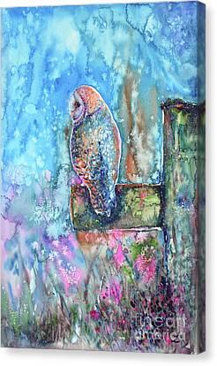 In The Morning Haze Canvas Print by Zaira Dzhaubaeva
