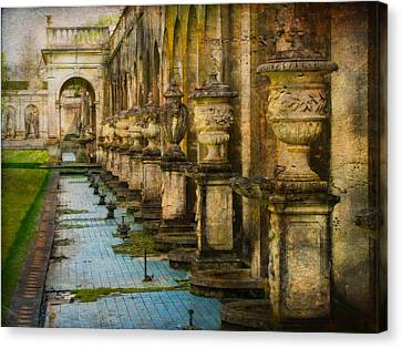 Canvas Print featuring the photograph In The Past And Present by John Rivera