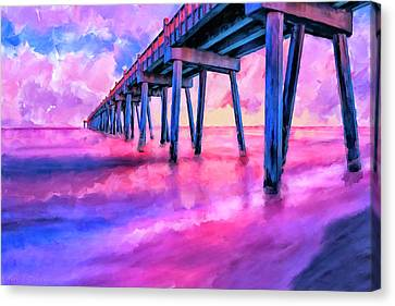 In The Pink On Pensacola Beach Canvas Print by Mark Tisdale