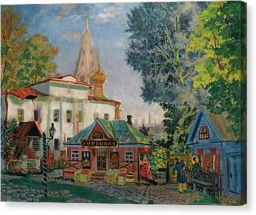 In The Provinces Canvas Print by Boris Mikhailovich Kustodiev