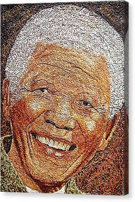 Nelson Mandela - In The Pyramid Of Our Minds Canvas Print by Bankole Abe