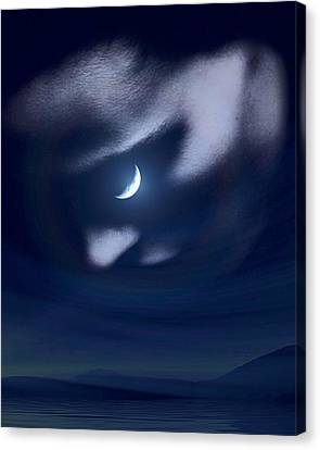 In The Quiet Of Your Mind Blue Canvas Print by ISAW Gallery