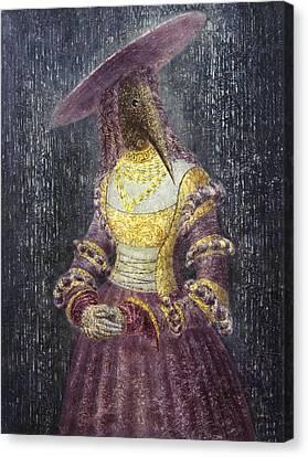 In The Rain Canvas Print by Lolita Bronzini