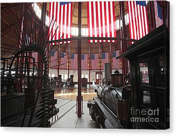 In The Roundhouse At The B And O Railroad Museum In Baltimore Canvas Print by William Kuta