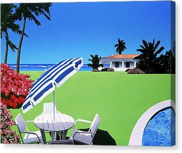 Graphic Digital Art Canvas Print - In The Shade by David Holmes