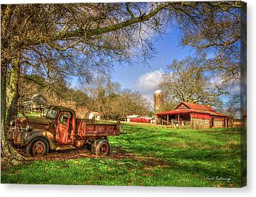 In The Shade Georgia Farm Scene Art Canvas Print by Reid Callaway