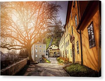 In The Shadow Of Salzburg Castle  Canvas Print