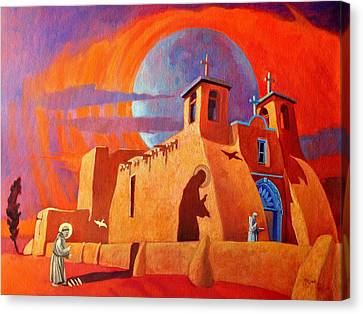Canvas Print featuring the painting In The Shadow Of St. Francis by Art West