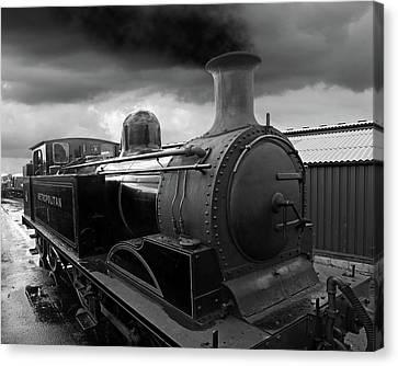 Rail Siding Canvas Print - In The Siding - Metropolitan Steam Train by Gill Billington