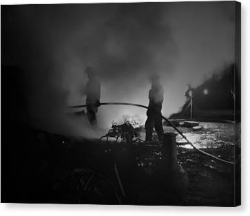 In The Smoke Canvas Print