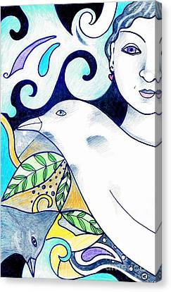 In The Spirit Of Unity 1 Canvas Print by Helena Tiainen