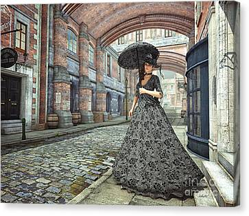 In The Streets Of Old London Canvas Print