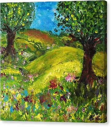 Canvas Print featuring the painting In The Summer by Evelina Popilian