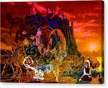 In The Theater Of Time Canvas Print by Henryk Gorecki