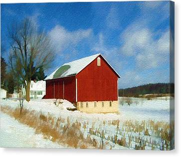 Canvas Print featuring the photograph In The Throes Of Winter by Sandy MacGowan
