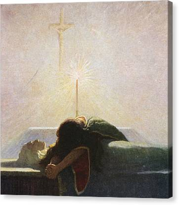 In The Tower Of London Canvas Print by Newell Convers Wyeth