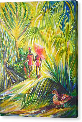 Canvas Print featuring the painting In The Tropics by Anna  Duyunova