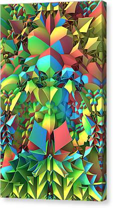Canvas Print featuring the digital art In The Tropics by Lyle Hatch