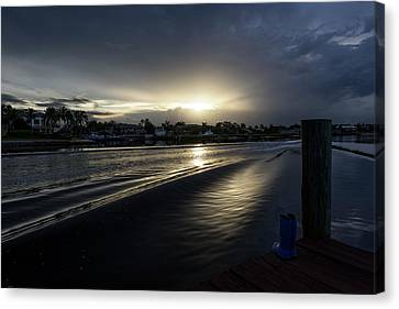 Canvas Print featuring the photograph In The Wake Zone by Laura Fasulo