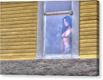 In The Window Canvas Print by Naman Imagery