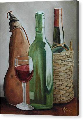In The Winery Canvas Print by Angeles M Pomata