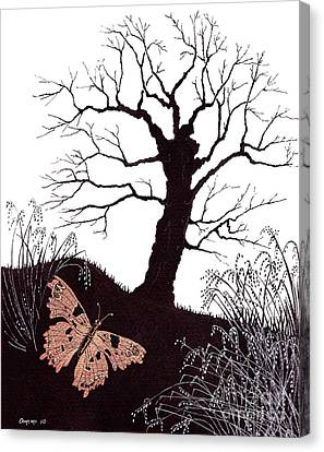 In The Winter Woods Canvas Print by Stanza Widen