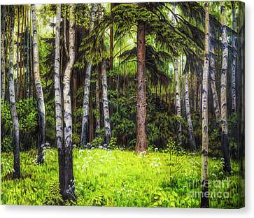 In The Woods Canvas Print by Veikko Suikkanen
