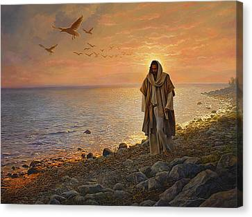 Sea Birds Canvas Print - In The World Not Of The World by Greg Olsen