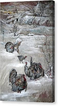 Canvas Print featuring the painting In Time For The Holidays by Debbi Saccomanno Chan
