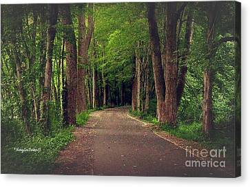 In To The   Deep Dark Woods  Canvas Print