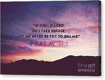 In You I Take Refuge Canvas Print by Sharon Soberon