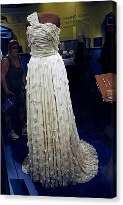 Inaugural Gown On Display Canvas Print by LeeAnn McLaneGoetz McLaneGoetzStudioLLCcom