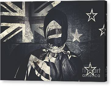 Inauspicious The Tale Of A Defaced Democracy Canvas Print