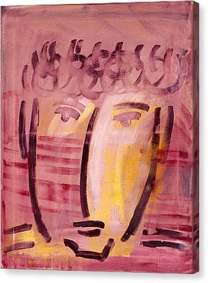 Inca Head Canvas Print by Michael Keogh