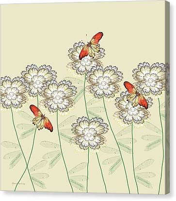 Incendia Flower Garden Canvas Print