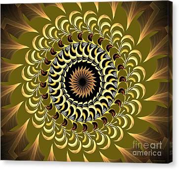 Incendia Kaleidoscope Canvas Print by Deborah Benoit