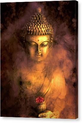 Canvas Print featuring the photograph Incense Buddha by Daniel Hagerman