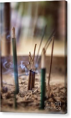 Incense Burning Canvas Print by Jane Rix