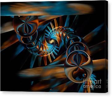 Inception Abstract Canvas Print by Olga Hamilton