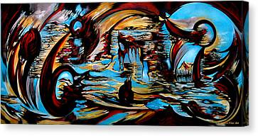 Canvas Print featuring the painting Incidental Landscape With Secret Reality by Carmen Fine Art