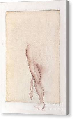 Incognito - Female Nude Canvas Print by Carolyn Weltman