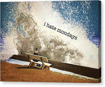 Incoming - Mondays Canvas Print by Thomas Blood