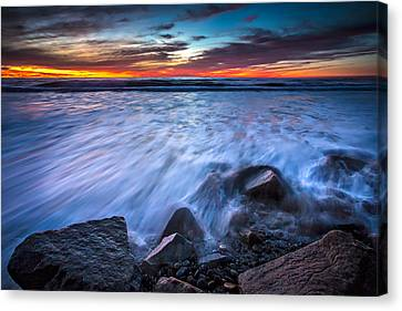 Incoming Canvas Print by Peter Tellone