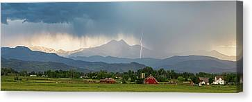 Canvas Print featuring the photograph Incoming Storm Panorama View by James BO Insogna