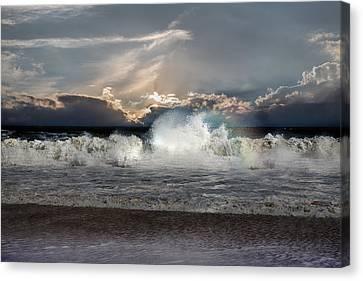 Nc Canvas Print - Incoming Tide by John Haldane