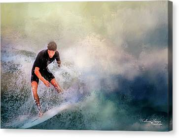 Canvas Print featuring the photograph Incoming by Wallaroo Images